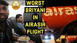 Worst Hyderabad Briyani in AirAsia Flight || PongalVadai Food Review