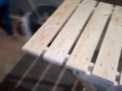 Раскладной столик своими руками