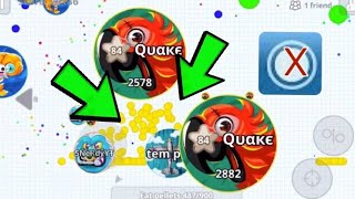 Agario Mobile// How To Feed Fast With Out Macro!!!//Not Click Bait//Fastest Takeover Ever?