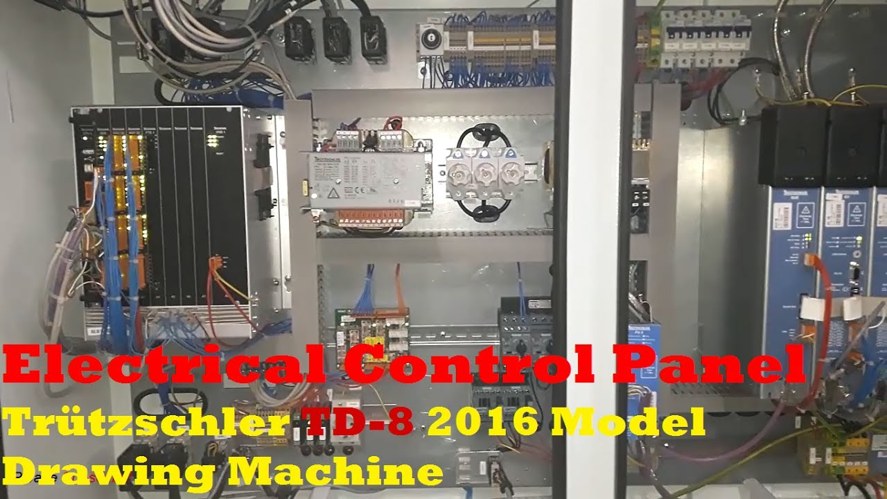 Electrical Control Panel Trutzschler Td 8 2016 Model Drawing Machine German Engineering Eee Youtube