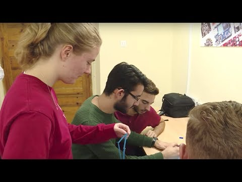 WPI students travel to Albania to Implement the country's first high school robotics competition