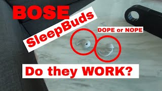 Sleep TECH: BOSE SleepBuds - Do they really work? DEMONSTRATION