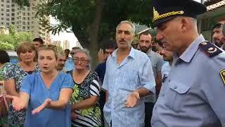 Yasamalda söküntü: Polisi çağırmışam ki, bizə kömək eləsin, müqaviməti siz bizə edirsiz.
