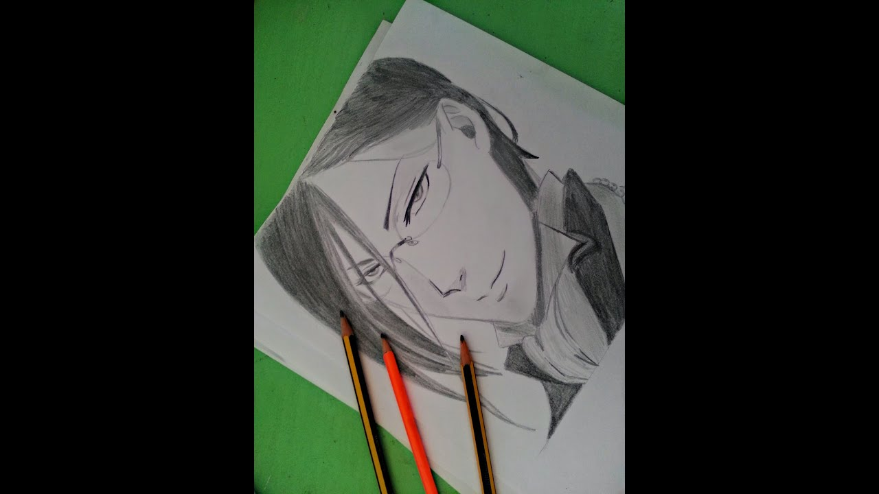 Speed Drawing Black Butler - How To Draw Sebastian Michaelis - U30bb U30d0 U30b9 U30c1 U30e3 U30f3 U30fb U30df U30ab U30a8 U30ea U30b9 Drawing
