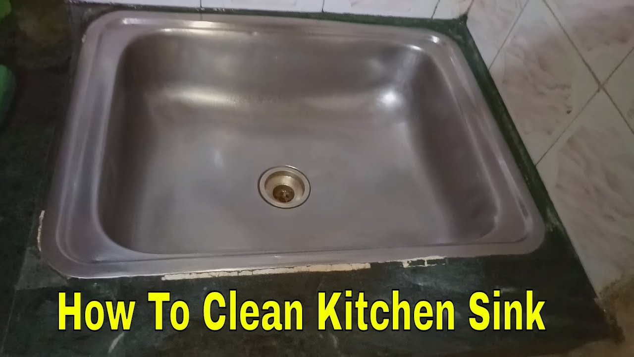 how to clean your kitchen steel sink | deep cleaning of kitchen