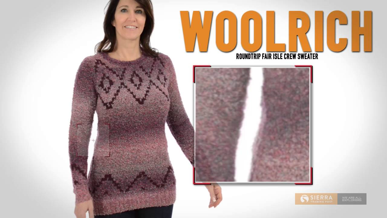 Woolrich Roundtrip Fair Isle Sweater (For Women) - YouTube