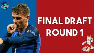 FINAL DRAFT + STRATEGY - ROUND 1 | WORLD CUP FANTASY FOOTBALL 2018