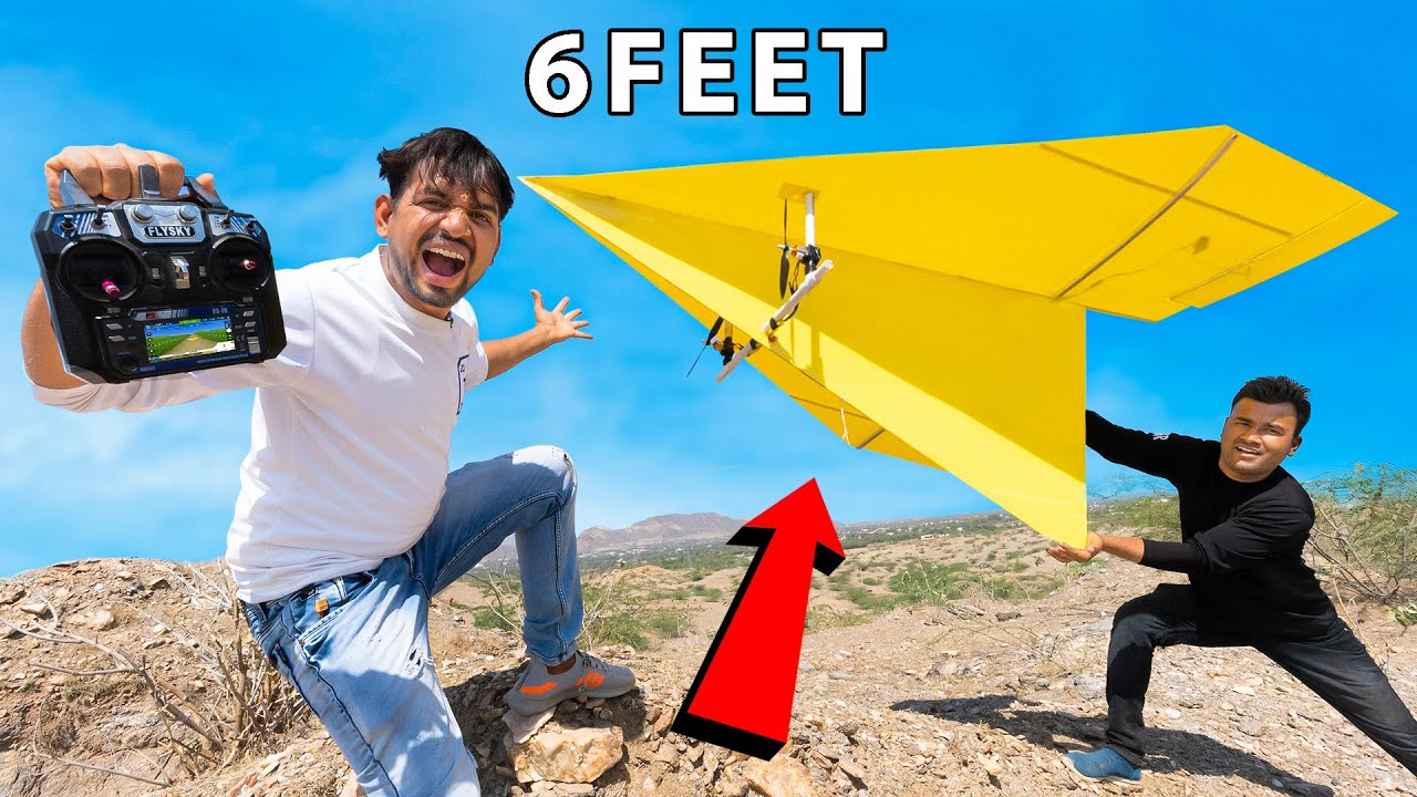 We Made Biggest Remote Control Paper Airplane - Will It Fly ?