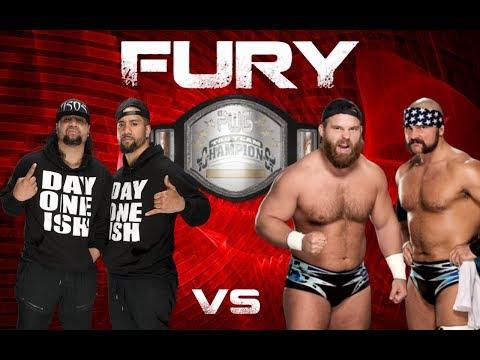 PWG: [5/7/18] FURY   Tag Team Championships   Usos (c) vs Revival