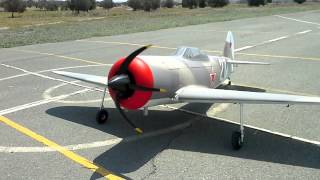 "YAK 3U 97"" ground tests ready for maiden @ cluzeau"