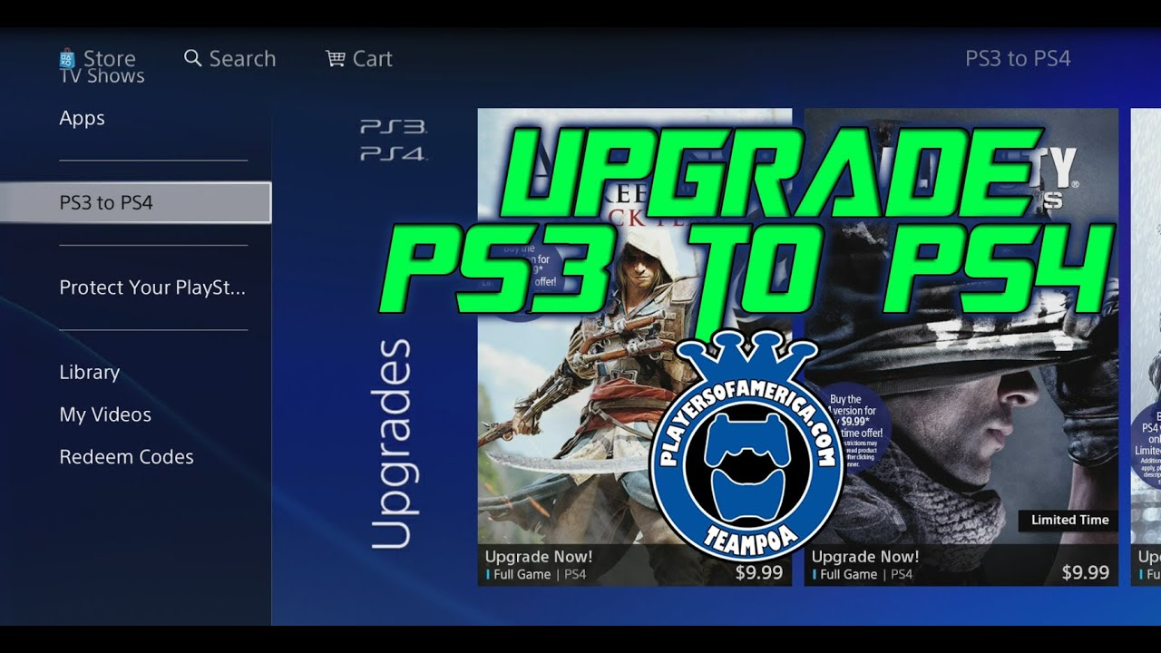 How to Upgrade PS3 Games to PS4 Digital - YouTube