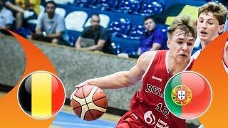 Belgium v Portugal - CL 9-16 - Full Game - FIBA U16 European Championship Division B 2018 thumbnail