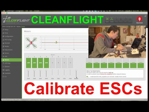 Calibrate ESC with Cleanflight plus tips!