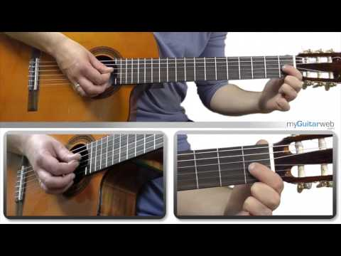 Guitar Lesson: Basic Chord progression E-A-B7-E with a backingtrack