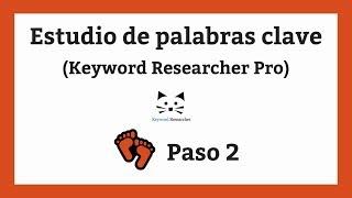 Estudio de palabras clave (Keyword Research) - Paso 2