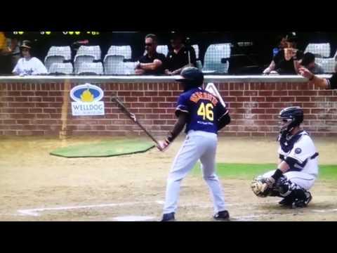 My son Benny playing professional baseball in Australia
