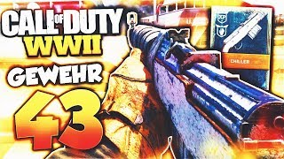 "The NEW ""GEWEHR 43"" in COD WW2! (CRAZY TRIGGER FINGER) - New WW2 GEWEHR 43 DLC Weapon Gameplay!"