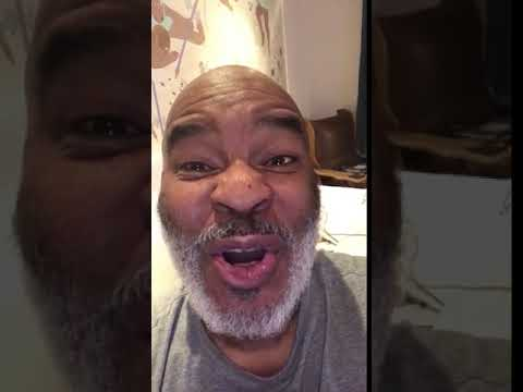 Comedian David Alan Grier wishing original FlyGirl Jossie Harris Thacker a Happy BDay
