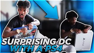 SURPRISING DC WITH A BRAND NEW PS4! (He almost cried)