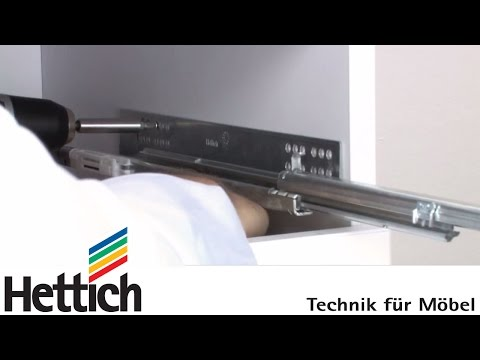 Mounting of Quadro concealed full extension runners: Do-It-Yourself with Hettich