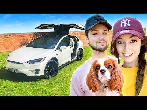 Ali-A + Clare's NEW CAR! 🚗 (Tesla Model X P100D)