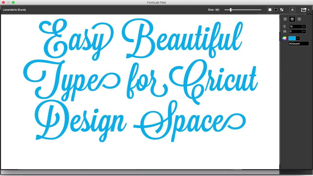Easy Beautiful Text For Cricut Design E