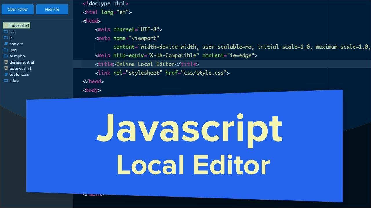 Javascript Local Editor - File System Access API