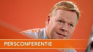 Persconferentie: Vooruitblik België - Nederland