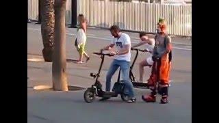 نزل يغير جو بشوارع برشلونة ! موت الناس من الضحك ! 😄 👍 جديد 2016