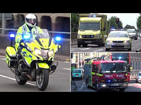 Emergency Services Responding - BEST OF MAY 2017 - Siren, Horns and Action!