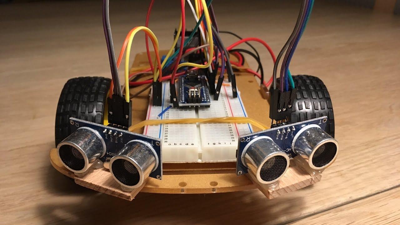 Stereo sonar arduino obstacle avoiding robot youtube