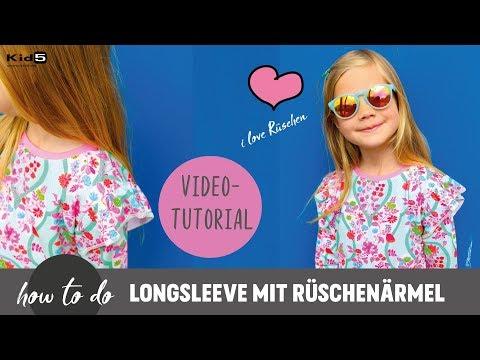 süßes Rüschen-Shirt ganz einfach selber Nähen       DIY-Näh-Tutorial