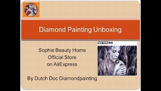 Diamond Painting Unboxing -- AliExpress -- Sophie Beauty Home Official Store