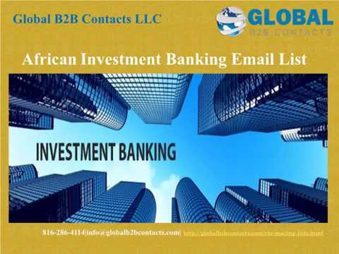 African Investment Banking Email list