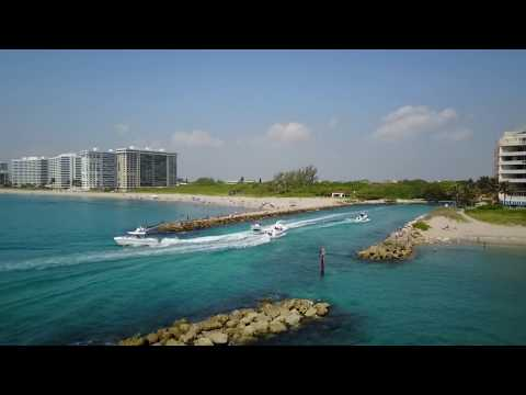 Drone footage of Boca Raton Inlet - Memorial Day 2017