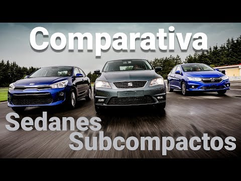 Rio Sedán VS City VS Toledo - Comparativa sedanes subcompactos | Autocosmos