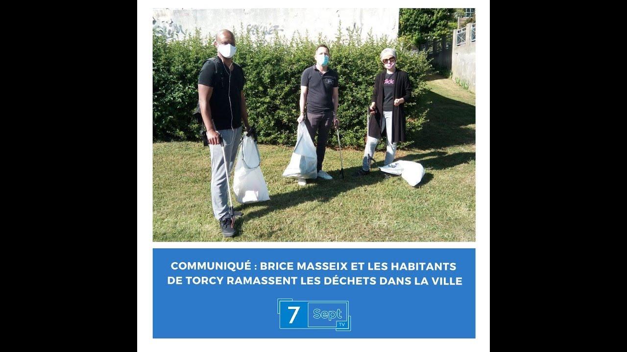 Communiqué : Brice Masseix et les habitants de Torcy ramassent les déchets dans la ville #7SeptTV