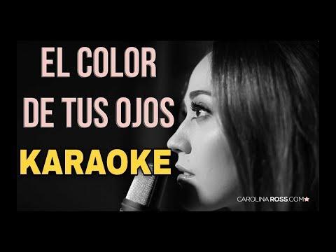 El Color De Tus Ojos - Banda MS - Karaoke Acustico Piano - (Carolina ross)