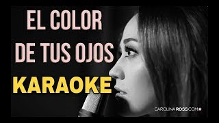 El Color De Tus Ojos - Banda MS - Karaoke Acustico Piano - (Carolina ross)