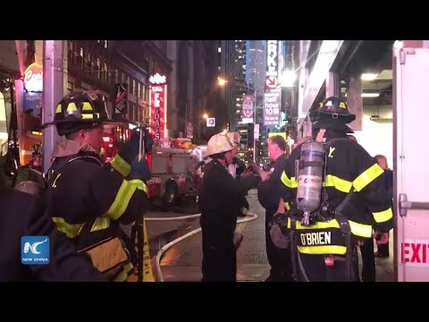 Breaking: Office Building in Times Square evacuated after parking garage fire