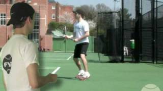 Tennis Footwork Back Foot Up