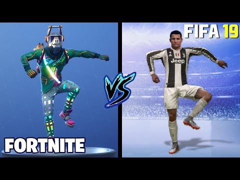 FORTNITE DANCES IN FIFA 19