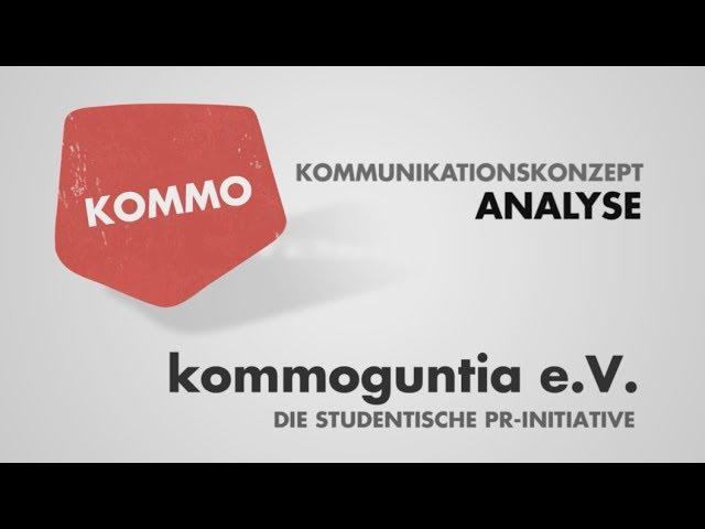 Kommunikationskonzept - Teil 1 - Analyse