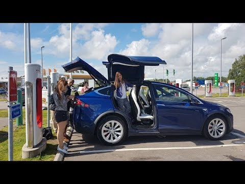 Tesla destination chargers on family vacation