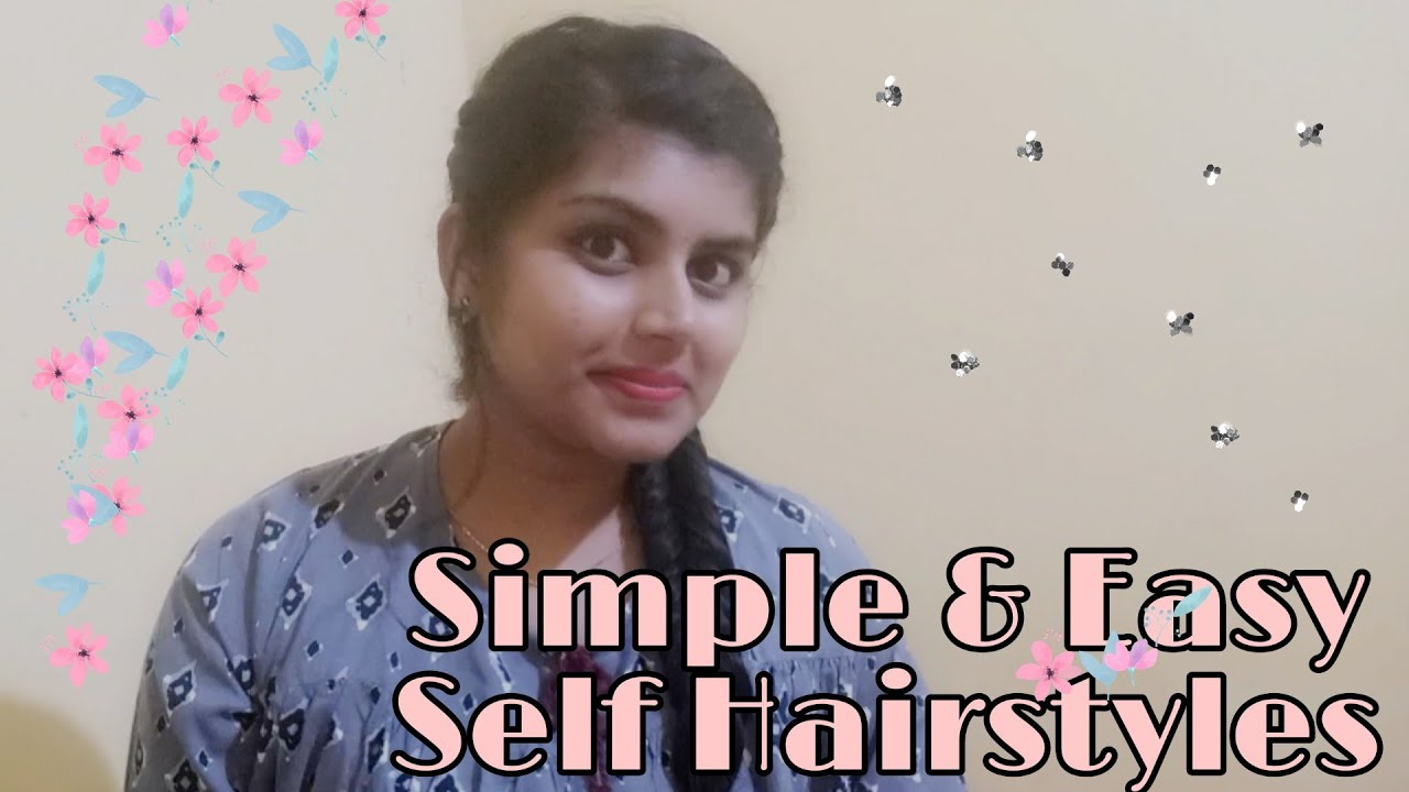 Beautiful & Simple self hairstyles|Easy hairstyle2020|Step by step Tutorial in Kannada ...