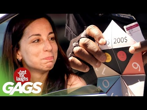 Cop Tickets Drivers With Paper Fortune Teller