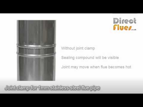 Installing a wood burning stove -  connecting sections of flue pipe - stove pipe