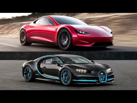 2020 Tesla Roadster Vs 2018 Bugatti Chiron - Top Speed!!