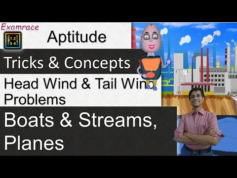 Boats & Streams, Planes - Head Wind & Tail Wind (Aptitude) Problems: Tricks & Concepts