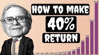 Warren Buffett Explains How he made Huge Returns  | Best Investment Strategy still